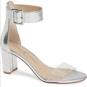 Chinese Laundry Reggie Ankle Strap in Silver
